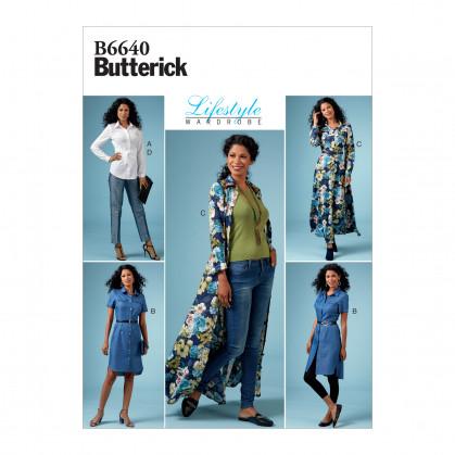patron haut, robe, pantalon Butterick B6640