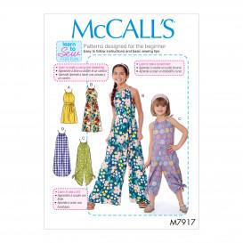 patron enfant barboteuse, combinaison McCall's M7917