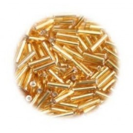 perles de verre batonnet or 15 gr