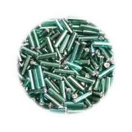 perles de verre batonnet vert 15 gr