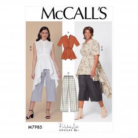 patron haut, tuniques, pantalon McCall's M7985