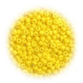 perles de verre ronde jaune 15 gr