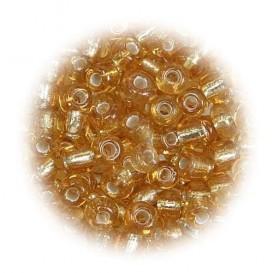 grosse perles de verre ronde or 7 gr