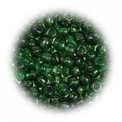 grosse perles de verre ronde vert 7 gr