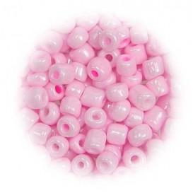 grosse perles de verre ronde rose 7 gr