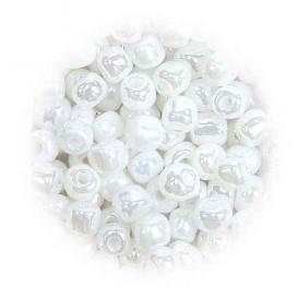 grosse perles de verre ronde nacré 7 gr