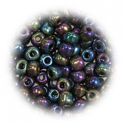 grosse perles de verre ronde moire 7 gr