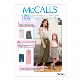 patron haut, jupe, robe, pantalon McCall's M7942