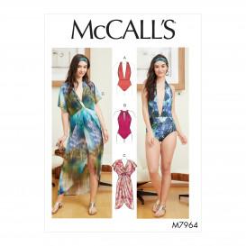 patron maillot de bain, paréo McCall's M7964