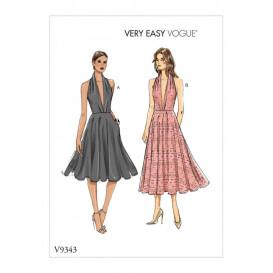 patron robe ajustée Vogue V9343