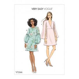 patron robe ajustée Vogue V9344