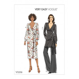 patron haut, robe et pantalon Vogue V9350