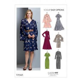 patron robe à corsage ajusté Vogue V9345
