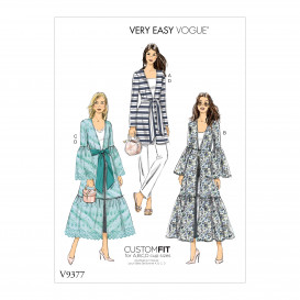 patron veste et ceinture Vogue V9377