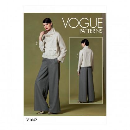 patron haut et pantalon Vogue V1642