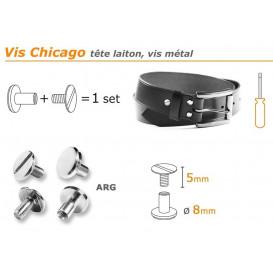 bouton vis chicago 5/8mm à l'unité