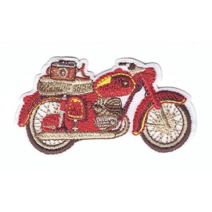 écusson moto ancienne thermocollant