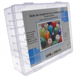 boite rangement jusqu'à 80 bobines de fils 30x26x9,2cm