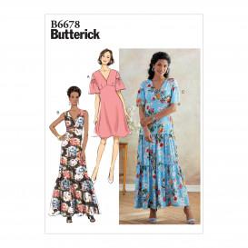 patron robe non doublée Butterick B6678