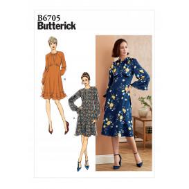 patron robe moulante Butterick B6705