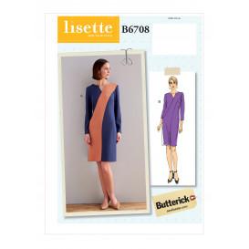 patron robe ajustée Butterick B6708