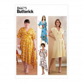 patron robe portefeuille Butterick B6675