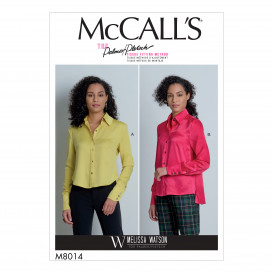 patron chemises McCall's M8014
