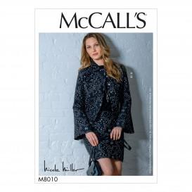patron veste et jupe McCall's M8010