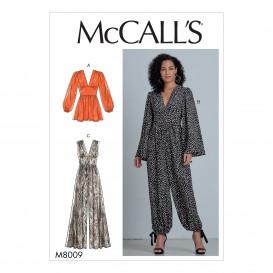 patron barboteuse et combinaisons McCall's M8009