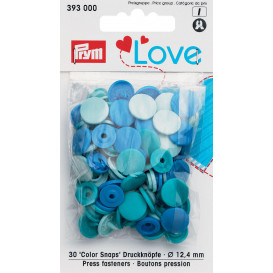 30 boutons pression prym love mix 12,4mm