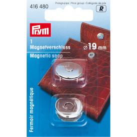 fermoir magnétique à riveter argent 19mm