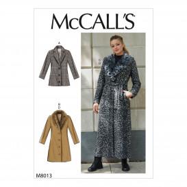 patron manteau ample McCall's M8013