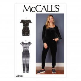 patron barboteuse et combinaison McCall's M8028