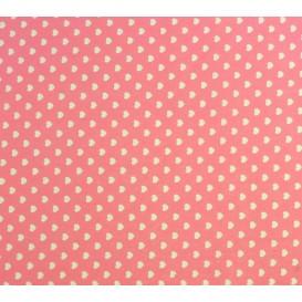 coupon coton rose coeurs 5mm