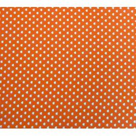 coupon coton orange coeurs 5mm