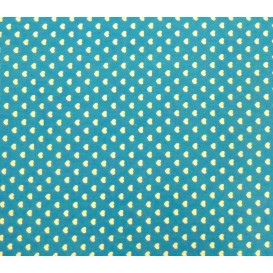 coupon coton turquoise coeurs 5mm