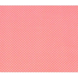 coupon coton rose pois 2mm