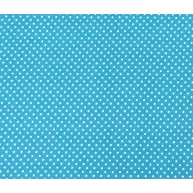 coupon coton turquoise pois 2mm