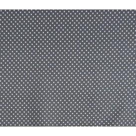 coupon coton gris foncé pois 2mm