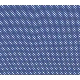 coupon coton bleu roi pois 2mm