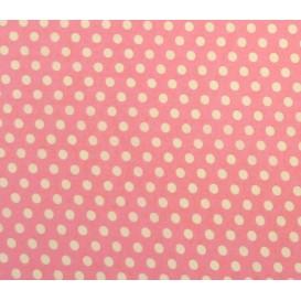 coupon coton rose pois 9mm