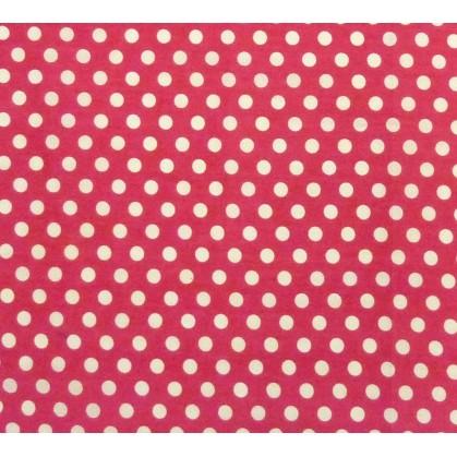 coupon coton fuchsia pois 9mm