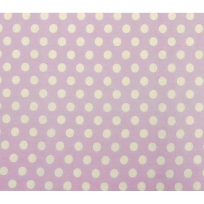 coupon coton lilas pois 9mm