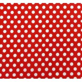 coupon coton rouge pois 9mm