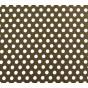 coupon coton marron pois 9mm