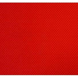 coupon coton rouge pois 2mm