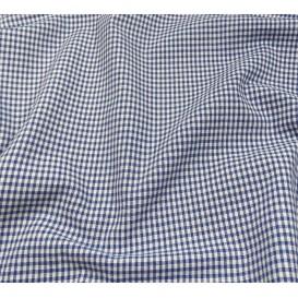 coupon coton vichy 2mm bleu