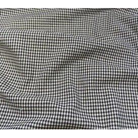 coupon coton vichy 2mm noir