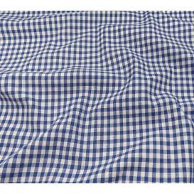 coupon coton vichy 4mm bleu
