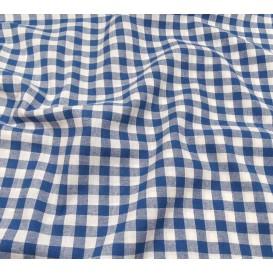 coupon coton vichy 10mm bleu
